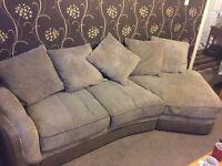 Gorgeous corner sofa brown