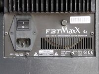 PA speakers/monitors: FBT Maxx 4a active speakers, plus stands and leads