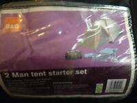 B&Q 2 Man tent starter set.