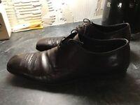 Designer Prada Brown Leather Shoes uk8 eu42 rp£450