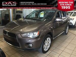 2012 Mitsubishi Outlander XLS S-AWC  LEATHER/SUNROOF/7 PASS