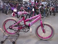 GIRLS RALEIGH KRUSH BIKE 16 INCH WHEELS