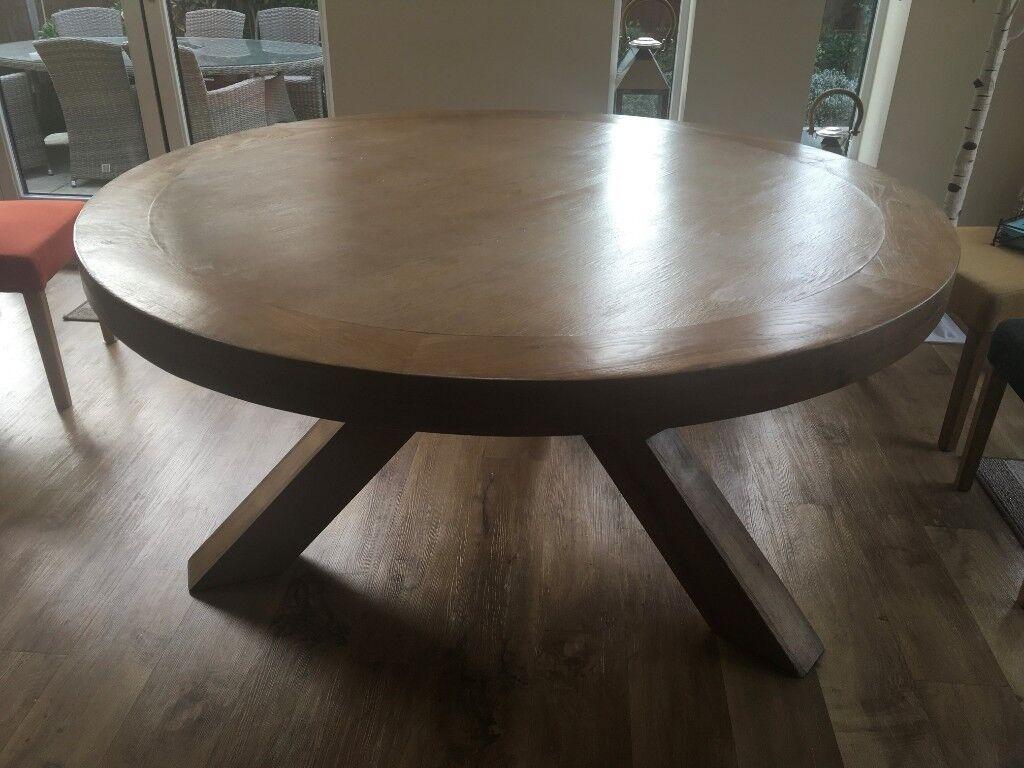 Miraculous Round Solid Wood Dining Table 160 Cms In Bishops Stortford Hertfordshire Gumtree Download Free Architecture Designs Xoliawazosbritishbridgeorg