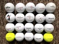 20 Pinnacle golf balls in very good condition, Gold, exceptional, elite,