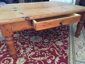 SOLID AUTHENTIC MEXICAN PINE COFFEE TABLE, bought in USA