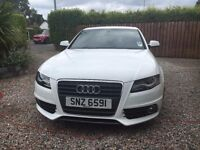 White Audi A4 2010 2.0 TDI S-Line (136) - Excellent Condition inside and out.