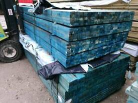 Treated Blue Roofing Batten (25mm x 50mm) GRADED BS5534 - Packs of 10