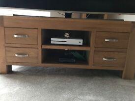 Oak TV/Media unit for sale - Great Condition