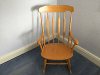 Solid wooden rocking chair in mint condition