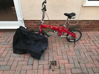 Foldable bike with lock and carrying bag