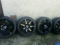 18 inch 5x112 genuine staggered Mercedes AMG C-class W204 alloys wheels
