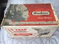 Vintage Hawkins supreme boxed collectible Baker lite hairdryer