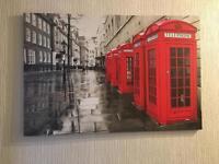 London red phone box canvas