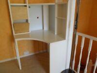 Ikea Micke Corner Workstation White/Birch