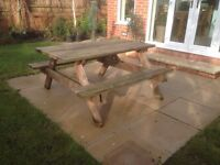 Large Sturdy picnic bench