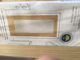 Internal Oak Veneer Glazed Doors