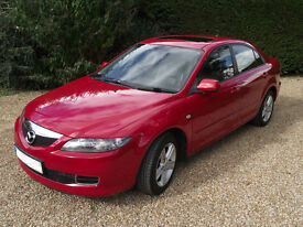 Mazda 6 2.0 TS2 5dr, 2005, Petrol, 147BHP, Red, Low Milage, Good Condition