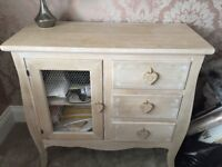 Grey rustic side board/ chest
