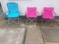 3 adult folded away outdoor chair