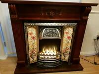 Selling a solid mahogany fireplace