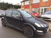 Smart Forfour 1.1 Black 5dr £499 1.1, starts and drives 2004 (54 reg), Hatchback