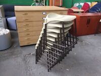 8 X STEEL FRAMED LAB STOOLS, MORE FURNITURE IN OUR OTHER LISTINGS, WORK, CHAIR