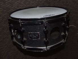 """Spaun Vented Steel Snare Black Wrinkle 14 x 6.5"""""""