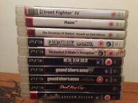 10(TEN) PS3 games in good to excellent condition! Many top games included!!