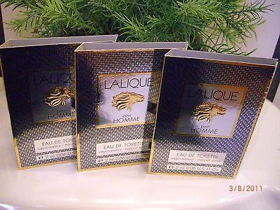 Lalique for Men Eau de toilette spray vials Lot of 3