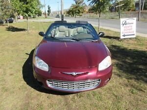 2001 Chrysler Sebring  LXi, cabriolet, mags, cuir, tres propre.