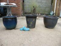 Ceramic garden pots in Wangford