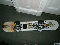 145cm Rome Snowboard with Rome Arsenal bindings very good condition £90