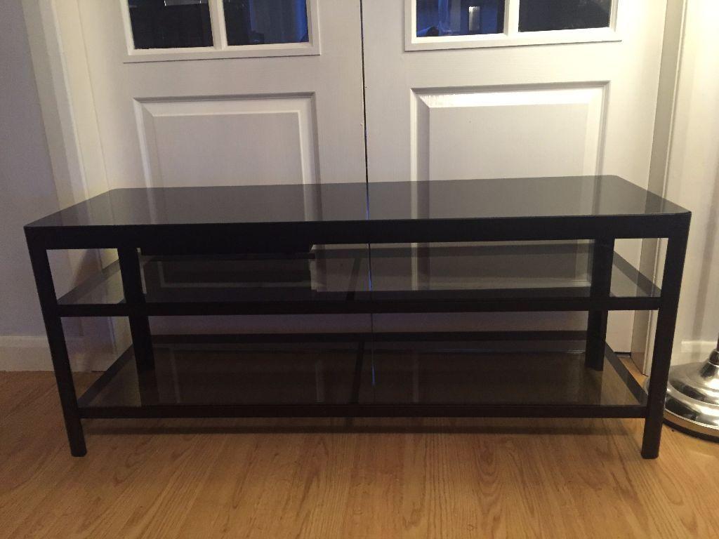 Ikea Gettorp Tv Bench Black Black Gloss In Airdrie North Lanarkshire Gumtree