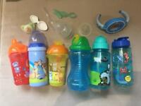 Various bottles,soother,etc.