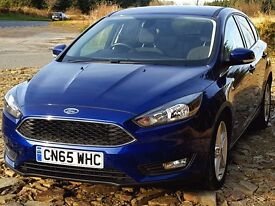 (Reduced!)2015 65 Ford FOCUS Zetec 1.5 TDCi, Latest Model, One Owner, Warranty to 2018. Zero Rd Tax