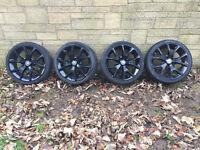 """Vauxhall Corsa VXR Black 18"""" Alloy Wheels & Tyres"""