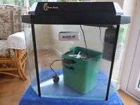 Large clearseal aquarium with pump, filter, magnet cleaner shingle and a range of other accessories