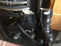 Rookie black leather skates