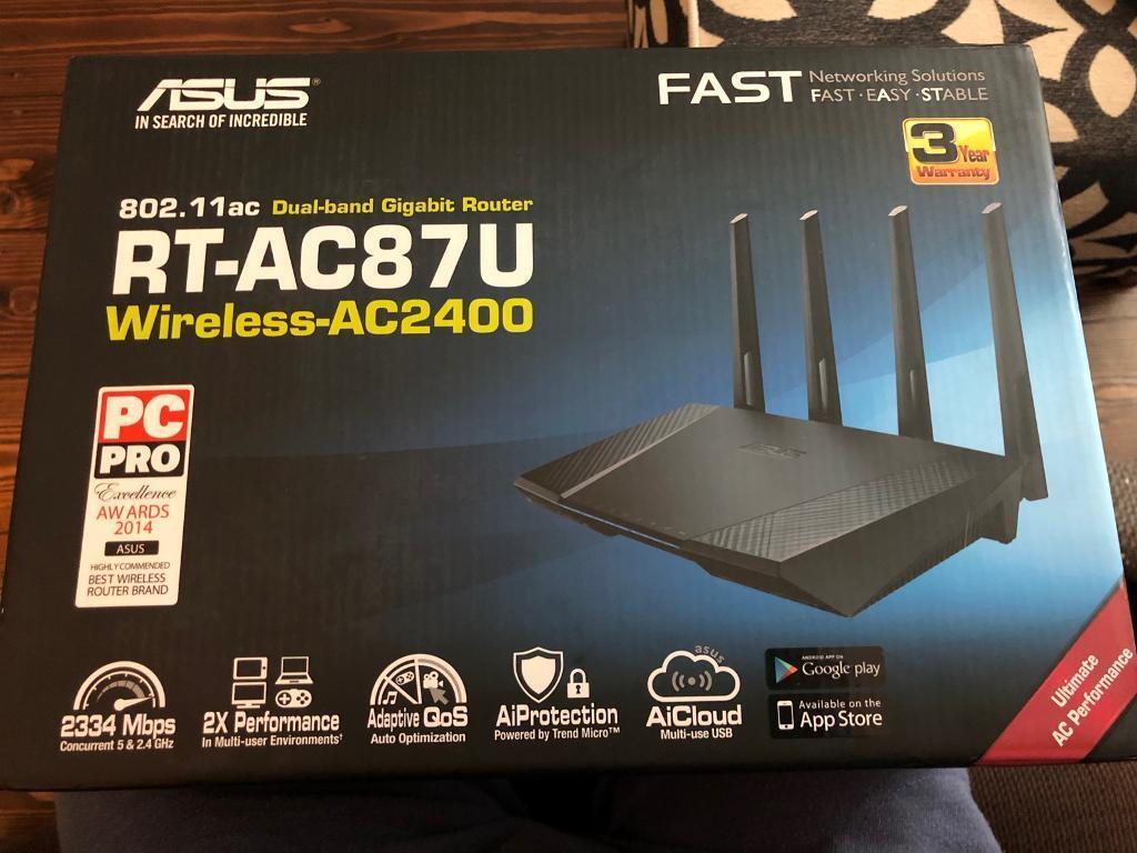 ASUS RT-AC87U Wireless Router | in Greenwich, London | Gumtree