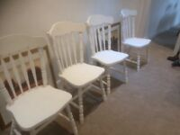 Painted pine farmhouse chairs(4)