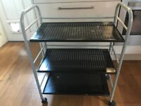Salon Trolley structurally good with wheel lock.