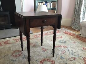 Drop leave Victorian side table