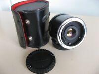 VIVITAR 3x MC TELE CONVERTER WITH BOTH CAPS & CASE - FITS CANON FL & FD - £10