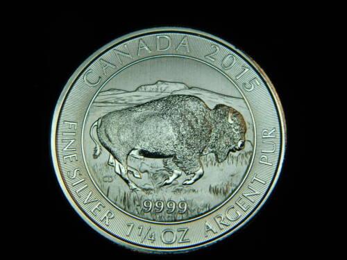 SILVER CANADA .999 2015 BUFFALO 1 1/4 OZ COIN