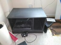Black wooden TV cabinet good condition