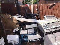 A lot of Scrap Tables, Machine Metal [Free To Take]