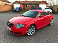 2003 Audi TT 225 bhp*Quattro*Bright Red*Face-lift Model*Full Leather*Full MOT*Coupe*MINT*