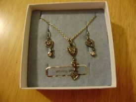 Jewellery, sterling silver set, NEW