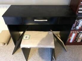 Dressing table black sparkle partially built up