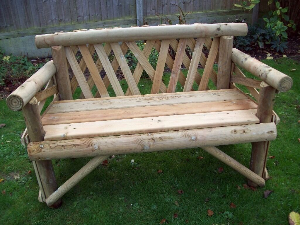 Rustic Garden Furniture Canterbury Kent made from Softwood and Hardwood   Bespoke and handmade. Rustic Garden Furniture Canterbury Kent made from Softwood and